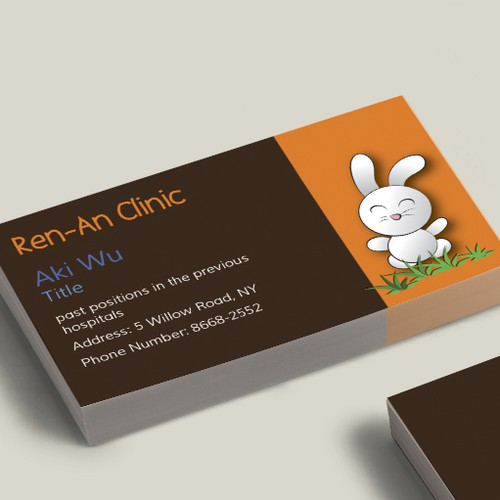 A Business Card For A Pediatrician Clinic Business Card Contest