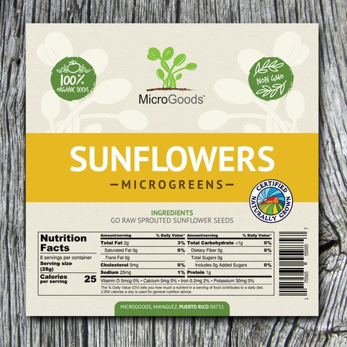 DESIGN A Professional Label For Microgreens