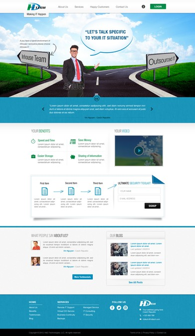 Design vencedor por Bingotheme