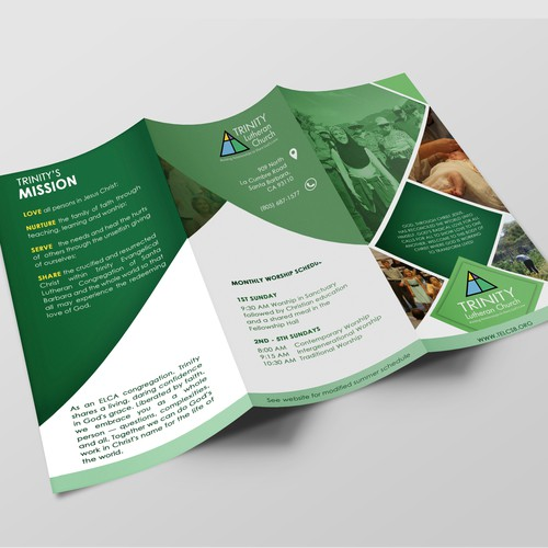 Church welcome brochure for visitors tri fold brochure for Church brochure design