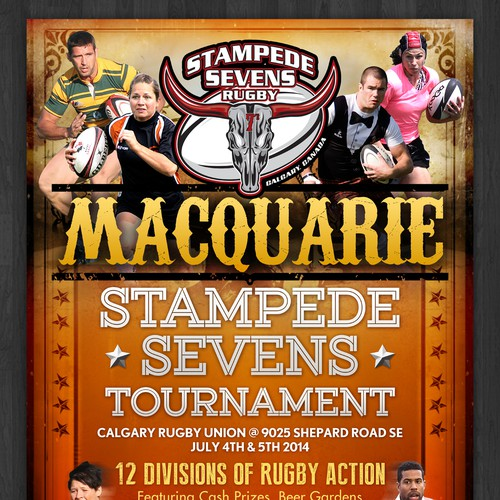 Create Poster For Rugby Tournament Postcard Flyer Or