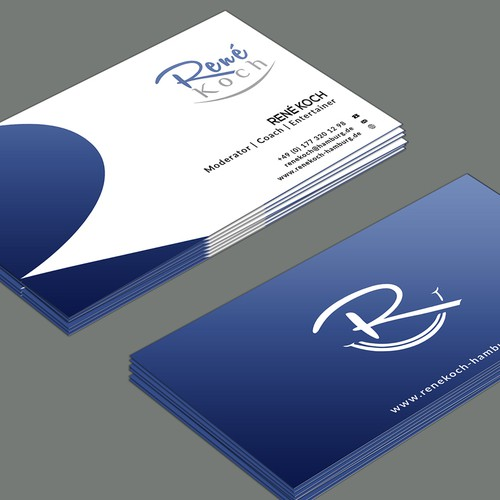 Business card entertainment and coaching business card contest runner up design by creativeid colourmoves