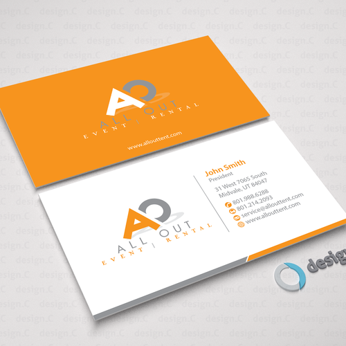 Create a contemporary business card that is clean and for Contemporary business card design
