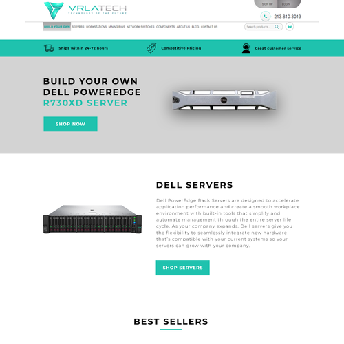 PRODUCT PAGE FOR TECHNOLOGY COMPANY | Landing page design