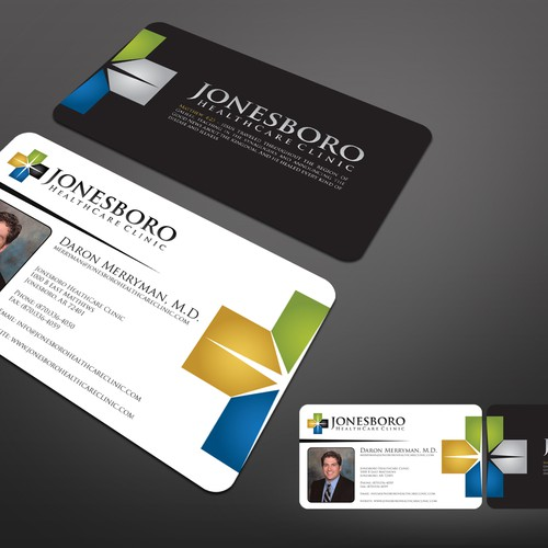 Help jonesboro healthcare clinic with a new stationery runner up design by mikkool reheart