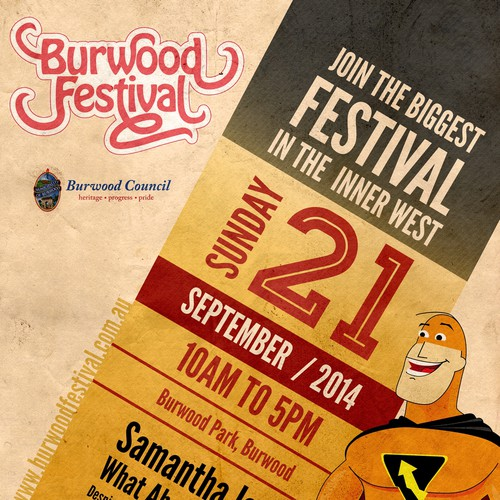 Burwood Festival SuperHero Promo Poster Design by tale026
