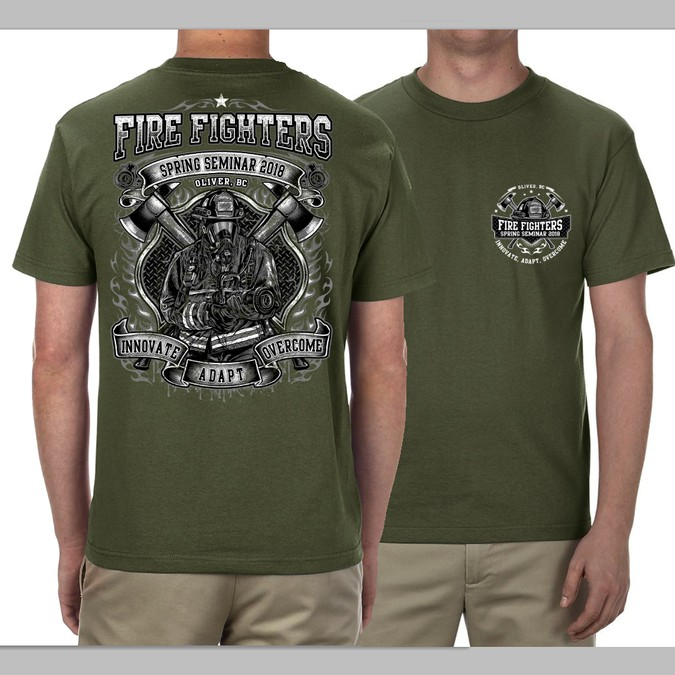 Your T Shirt Design On 450 Volunteer Firefighters T Shirt Wettbewerb