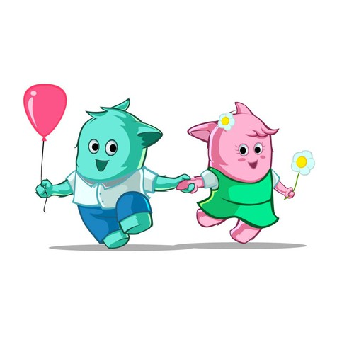 Cartoon/Mascot character for children TV Design by Rozart ®
