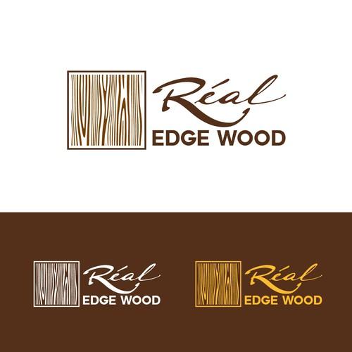 Wood grain logo for luxury real wood furniture brand ...