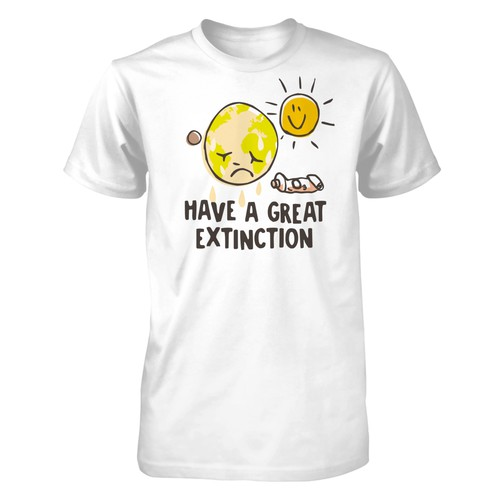 Funny T-shirt design for a serious subject. Design by tezis studio