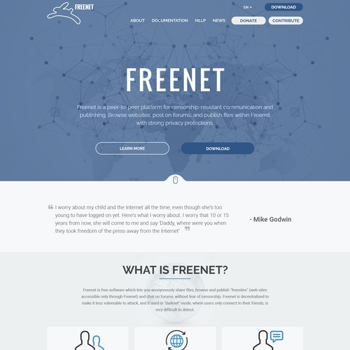 Reimagine Freenet's website and branding Design by andy.g