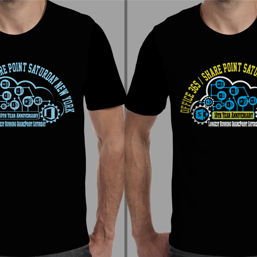 T Shirt Design York: T-Shirt Design For Office365/SharePoint Saturday New York