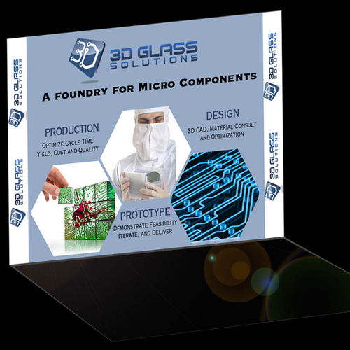 3D Glass Solutions Booth Graphic Design by jason mason