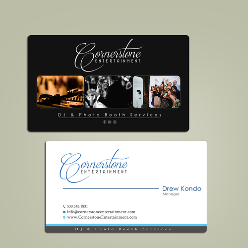 Wedding dj photo booth business needs business cards business runner up design by devoir00 reheart Image collections