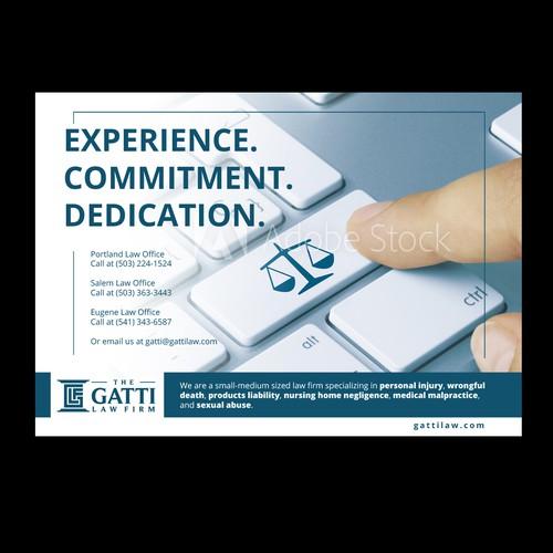 Law firm unique print advertisements. Design by grafix.euu