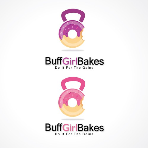 create logo for buff girl who bakes protein donuts