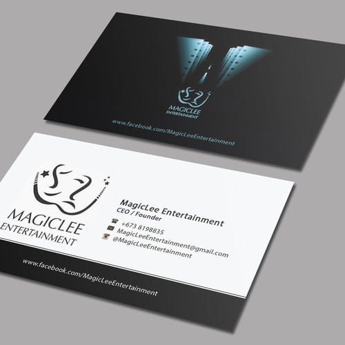 Contemporary film industry business card business card contest runner up design by mahari colourmoves