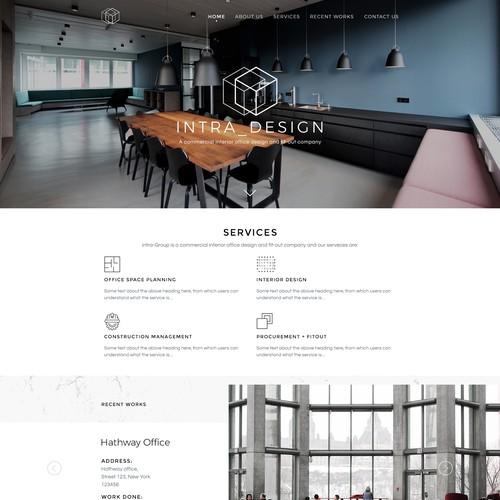 Website For New Commercial Interior Design Company Wordpress Theme Design Contest 99designs