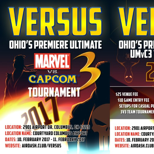 Flyer for fighting game tournament Design by Evans Design