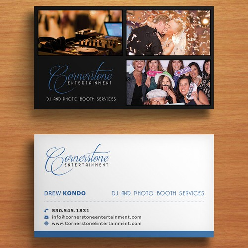 wedding dj  u0026 photo booth business needs business cards