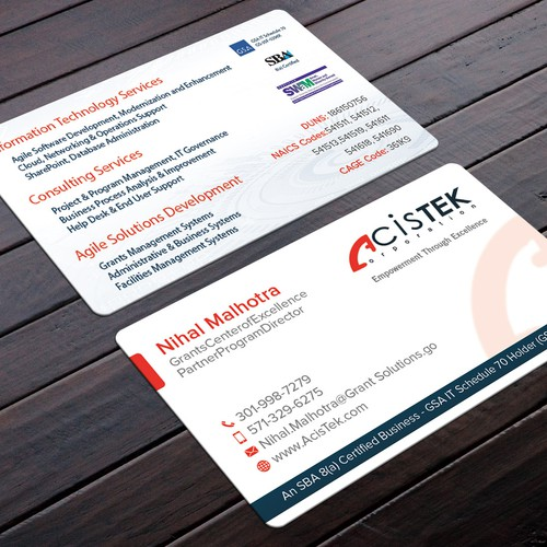 Modernizing corporate business card business card contest runner up design by felix sh reheart Images