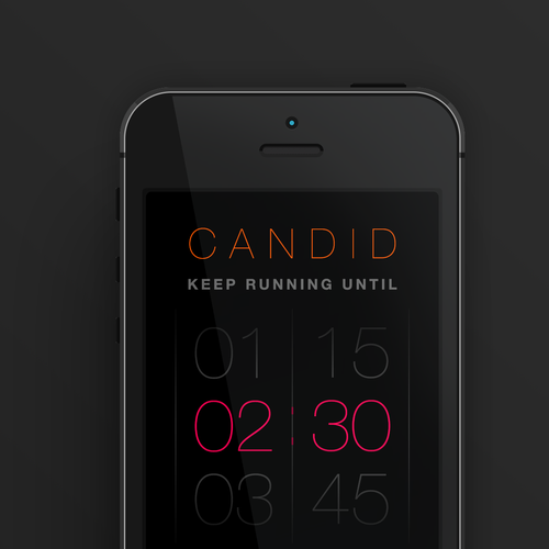 Runner-up design by CalmSpark App Design