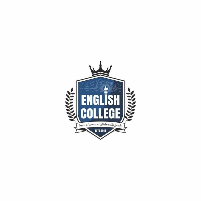 Best Design For Switzerland S First English College Logo