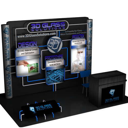 3D Glass Solutions Booth Graphic Design by odle