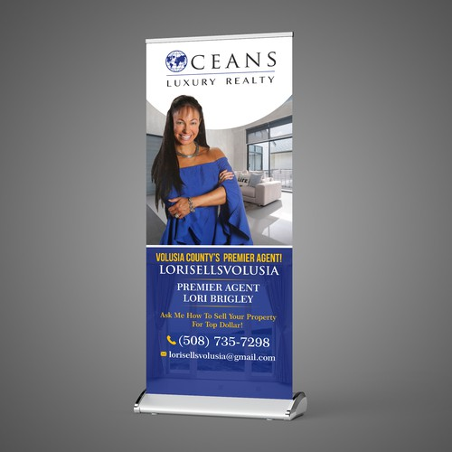 We Need An Eye Catching Pop Up Banner For Real Estate Agent To Use At Open Houses Signage Contest 99designs