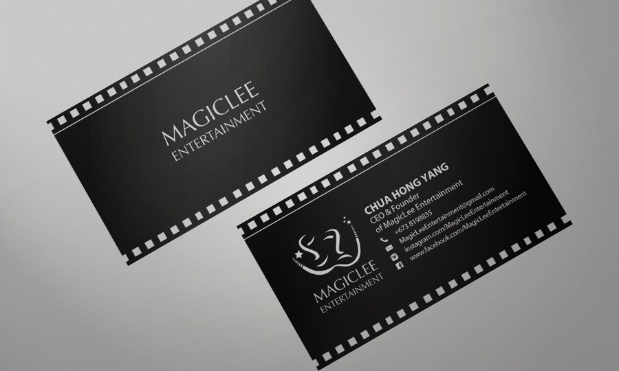 Contemporary Film Industry Business Card | Business card contest