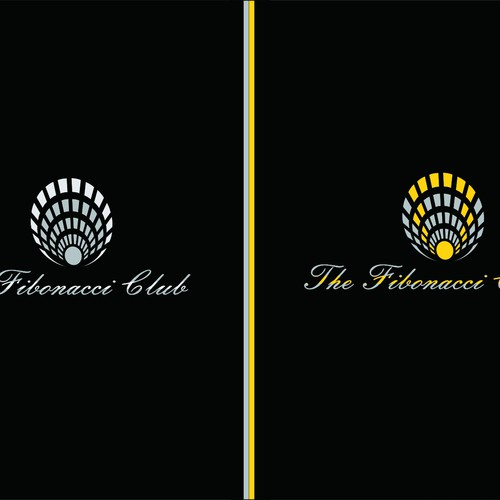a fibonacci spiral logo for private members club logo