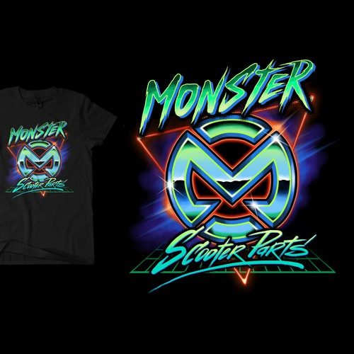 Creative shirt design needed for Monster Scooter Parts Design by Black Arts 888