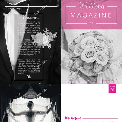 wedding ideas magazine competition wedding magazine template for web2print brochure contest 28245