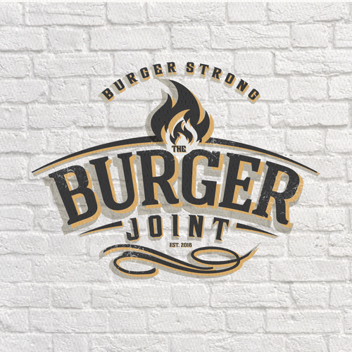 Classic, Clean and Simple Logo Design for a Burger Place.. Design by -NLDesign-