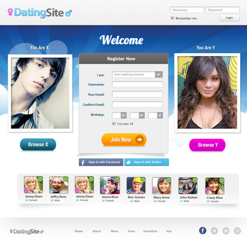 Voor dating website