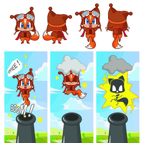 Game Character Design Contest : Ios android cartoon game character illustration or