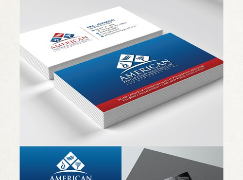 Cleaning & maintenance logo & business card design in