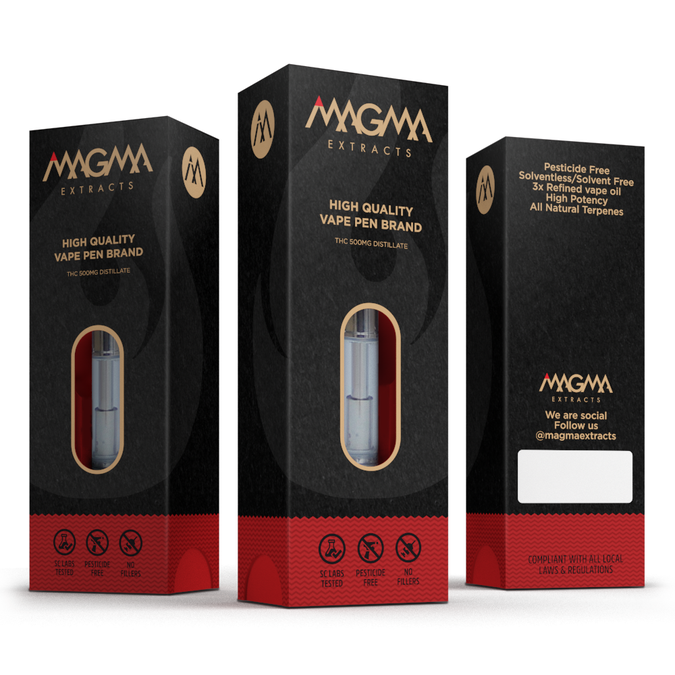 CREATIVE VAPE PACKAGING FOR MAGMA BRANDS | Product packaging