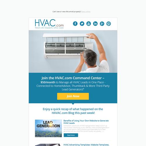 design hvac email template mailchimp super simple quick