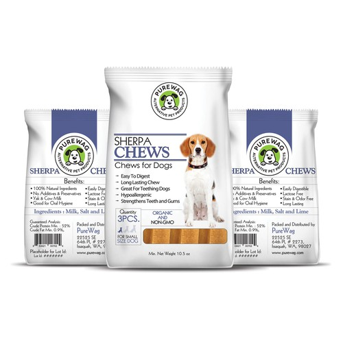 Purewag - Pet Products Packet Design Design by Hr36