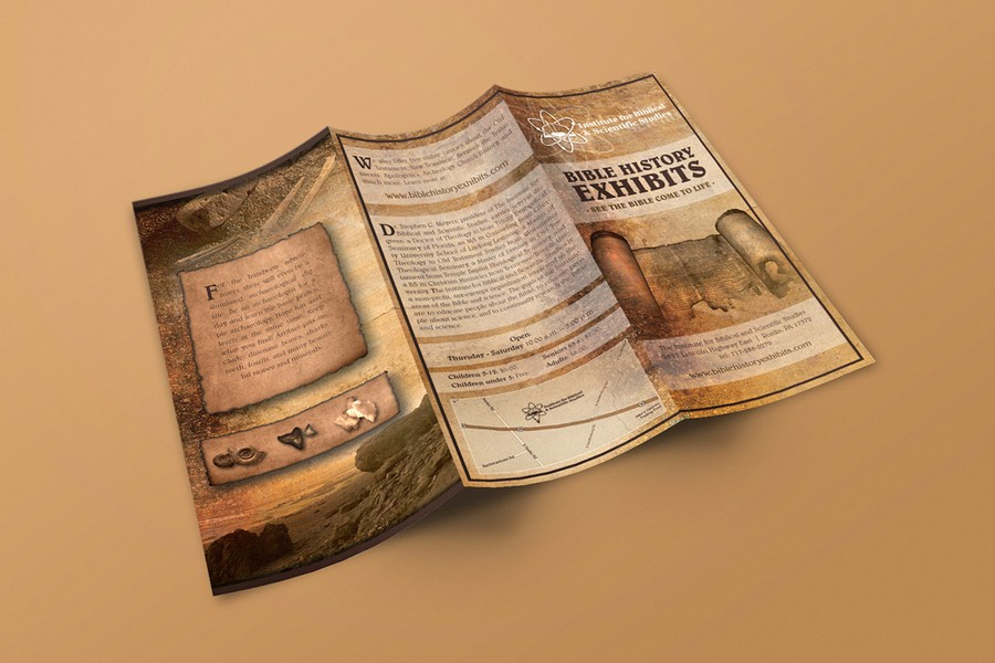 bible history exhibits museum brochure brochure contest. Black Bedroom Furniture Sets. Home Design Ideas