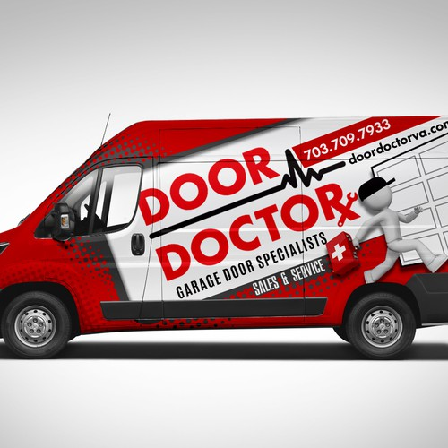 Creative Van Wrap Design For Door Doctor Signage Contest