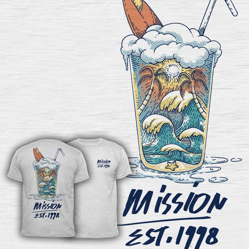 Design a cool surf style t-shirt for adventure company Design by diwaz