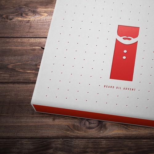 Minimalist Advent Calendar : Luxury minimalist style beard oil advent calendar for