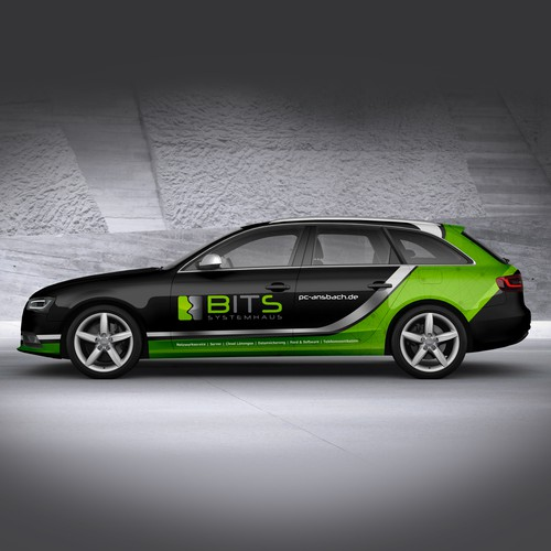 Modern Car Wrapping Audi A4 B8 Avant It Service Auto