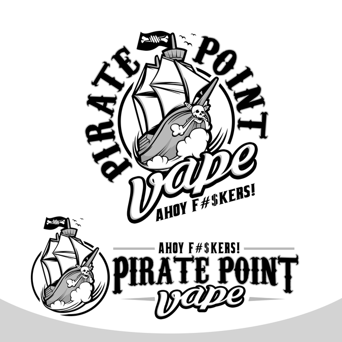 create a bad ass nautical themed logo for pirate point. Black Bedroom Furniture Sets. Home Design Ideas