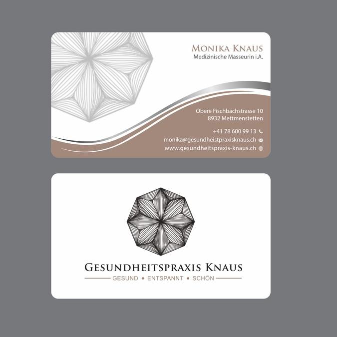 Visitenkarten Für Gesundheitspraxis Business Card Contest