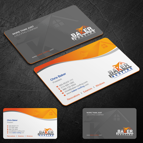 New Business Card For A Upscale Roofing And Construction Company Business Card Contest 99designs