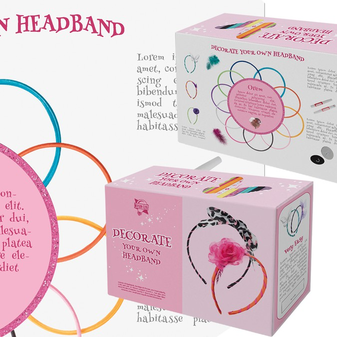 Design A Kids Headband Craft Kit Package Product Packaging Contest