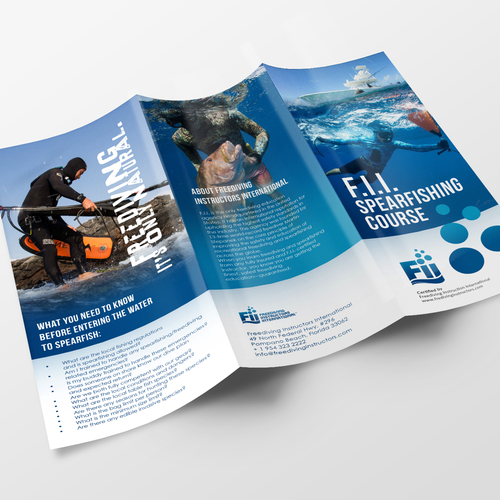 brochure design course - design a spearfishing course brouchure brochure